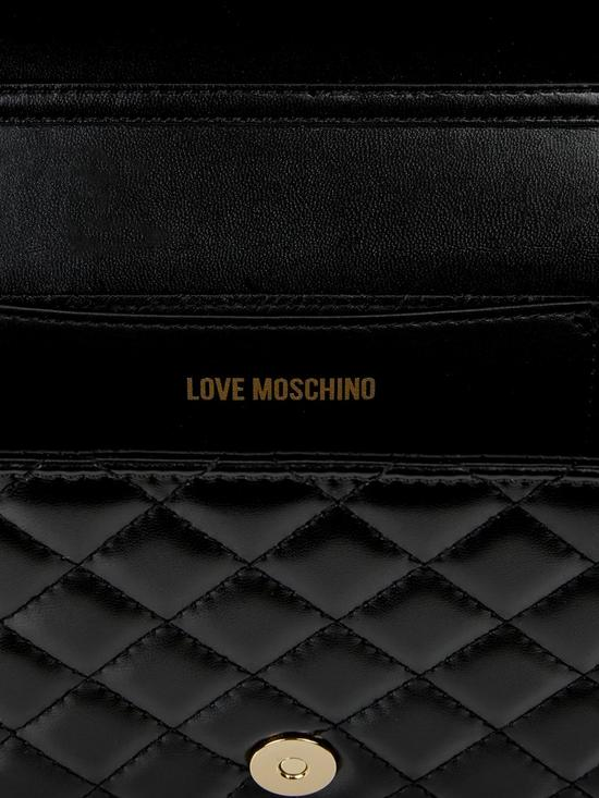 1e6f94e6055 ... LOVE MOSCHINO Logo Quilted Cross-Body Bag - Black. View larger