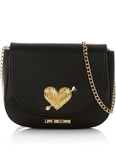 love-moschino-heart-logo-cross-body-chain-bag-black