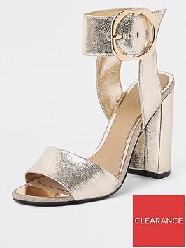 river-island-river-island-buckle-detail-heel-sandal-gold