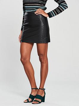 oasis-faux-leather-studded-mini-skirt