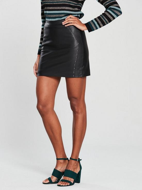 f7c9971ad9 Oasis Faux Leather Studded Mini Skirt | very.co.uk