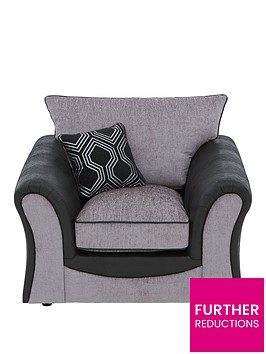 milan-faux-leather-and-fabric-armchair