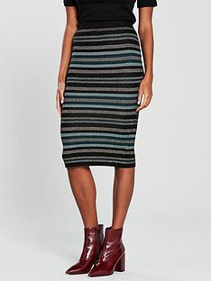 oasis-cassie-ariel-stripe-knitted-skirt