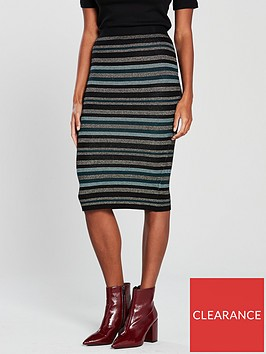 oasis-cassie-ariel-stripe-knitted-skirt