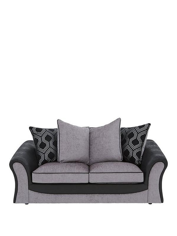 Marvelous Milan Faux Leather And Fabric Scatter Back Sofa Bed Caraccident5 Cool Chair Designs And Ideas Caraccident5Info