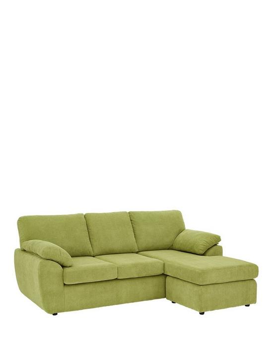 Dixie Fabric 3 Seater Reversible Corner Chaise Sofa