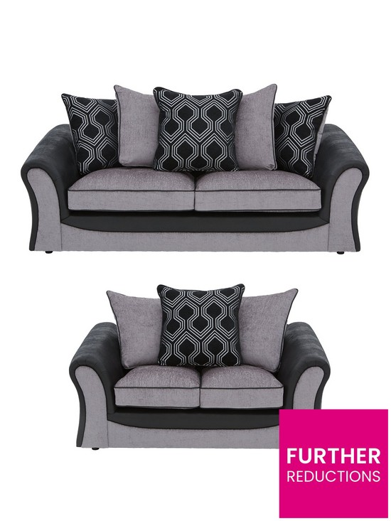 Cool Milan Faux Leather And Fabric 3 Seater 2 Seater Scatter Back Sofa Set Buy And Save Download Free Architecture Designs Scobabritishbridgeorg