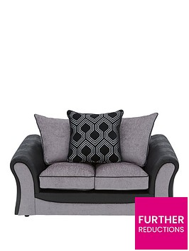 milan-faux-leather-and-fabric-2-seater-scatter-back-sofa