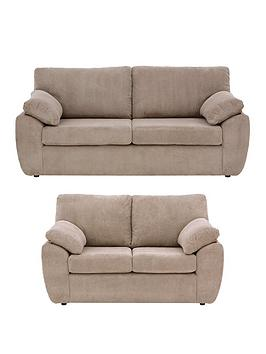 Dixie Fabric 3 Seater + 2 Seater Sofa Set (Buy And Save!)