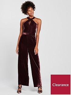oasis-twist-neck-velvet-jumpsuit-purplenbsp