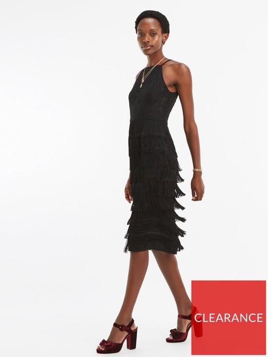 da058711e0 Oasis Lace Bodice Fringe Pencil Dress