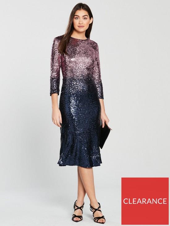 e43bc42e Oasis Ombre Sequin Midi Dress | very.co.uk