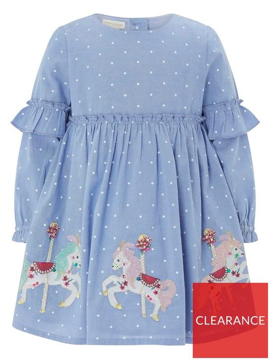 f2e420f188ed Monsoon Baby Lily Carousel Horse Dress