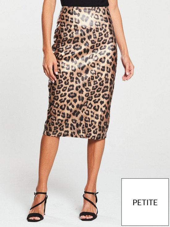 02c2f039a V by Very Petite Leopard Print Pencil Skirt | very.co.uk