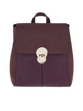 accessorize-tessa-lock-backpack-burgundy