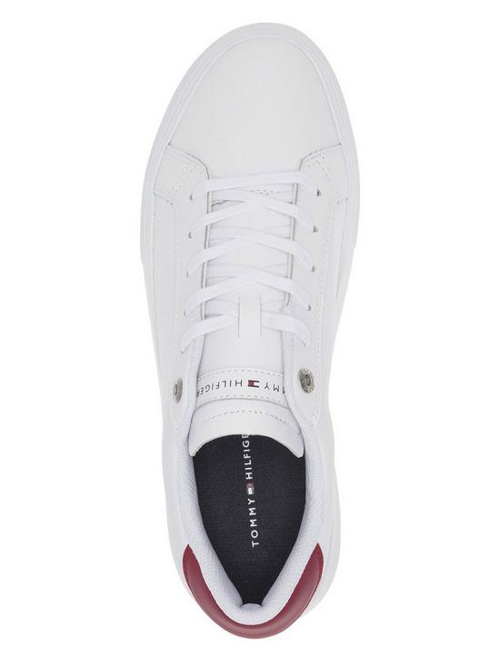 e8b8328530e3 ... Tommy Hilfiger Essential Leather Cupsole Trainers - White. View larger
