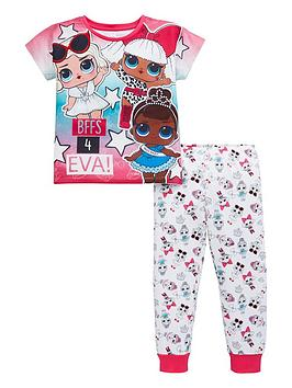 lol-surprise-girls-short-sleeve-pyjamas-pink