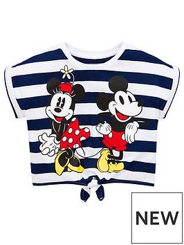 minnie-mouse-girls-stripe-tie-waist-t-shirt-navywhite