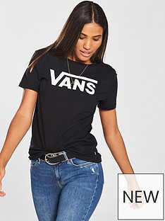 36e0616a3b Vans Flying V Crew T-Shirt - Black