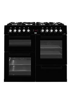 beko-kdvf100k-100cm-wide-dual-fuel-range-cooker-black