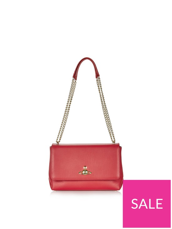 8b1eb7ed72 VIVIENNE WESTWOOD Balmoral Large Chain Strap Bag - Red | very.co.uk