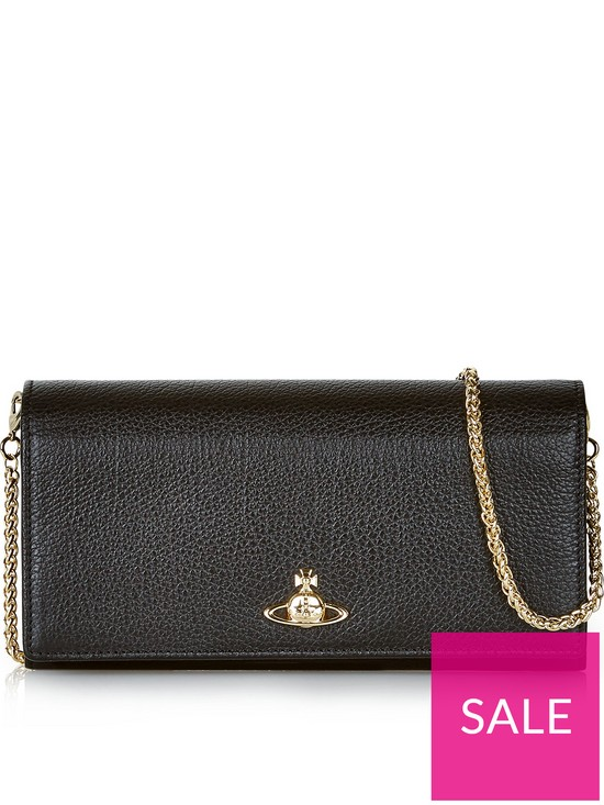 8933f3aeb9 VIVIENNE WESTWOOD Balmoral Long Wallet With Chain - Black | very.co.uk