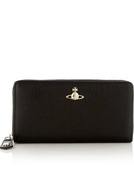 vivienne-westwood-balmoral-zip-round-wallet-black