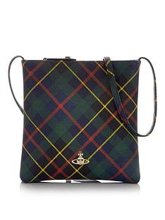 vivienne-westwood-derby-tartan-square-cross-body-bag-greennavy