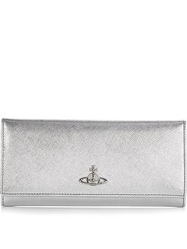 vivienne-westwood-pimlico-long-walletnbsp--silver