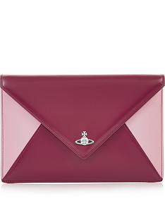 ea9312f98f VIVIENNE WESTWOOD Private Envelope Contrast Clutch - Dark Pink
