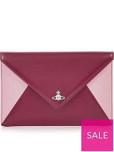 vivienne-westwood-private-envelope-contrast-clutch--nbspdark-pink