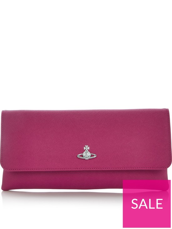 63807b8ea0d VIVIENNE WESTWOOD Victoria Clutch Bag With Flap | very.co.uk