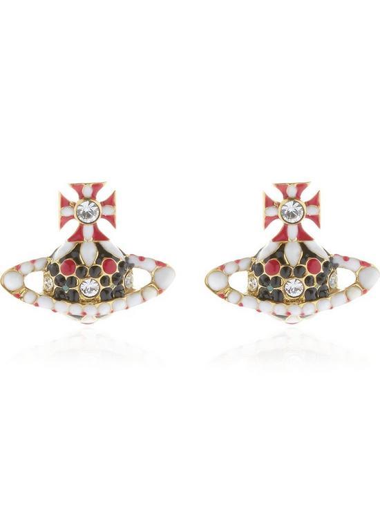 661ac4f32 VIVIENNE WESTWOOD Gabriella Bas Relief Orb Earrings - Multicolour ...