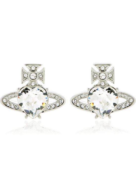 852bac60a VIVIENNE WESTWOOD Ariella Crystal Orb Earrings - Silver | very.co.uk