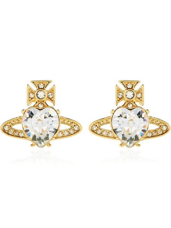 2b20c617b VIVIENNE WESTWOOD Ariella Crystal Orb Earrings - Gold | very.co.uk