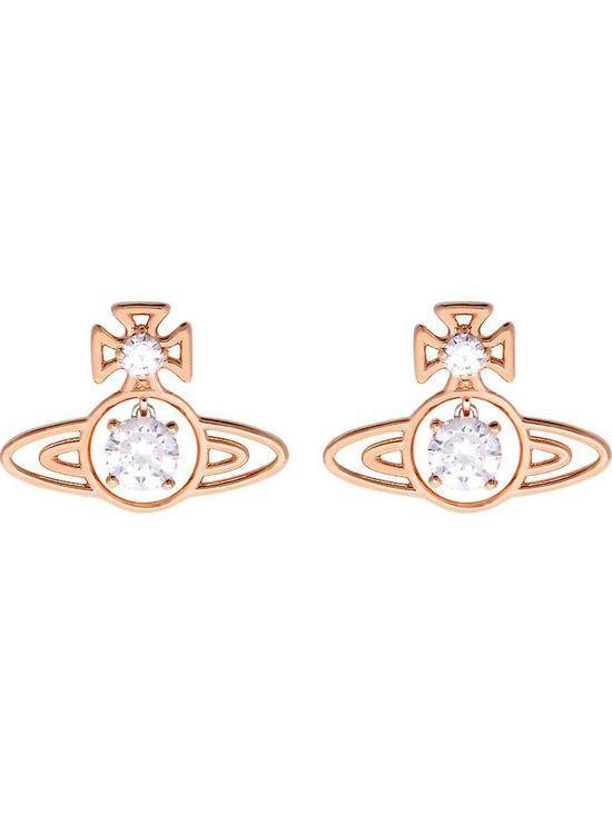 78c8f9cfb VIVIENNE WESTWOOD Shelia CZ Orb Earrings - Rose Gold | very.co.uk