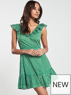 v-by-very-cotton-cold-shoulder-flippynbspdress-green