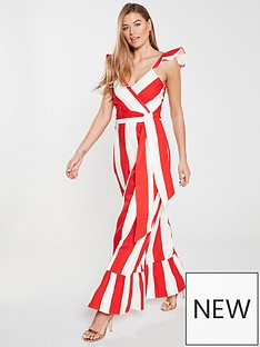 7aebf4f0bd V by Very Cross Front Maxi Dress - Stripe