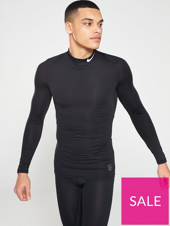 71522f756 Nike Mens Nike Pro Compression Mock Long Sleeve Top | very.co.uk