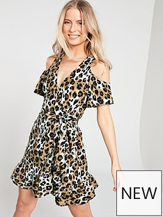 v-by-very-printed-linen-cold-shoulder-wrap-dress-ndash-animal