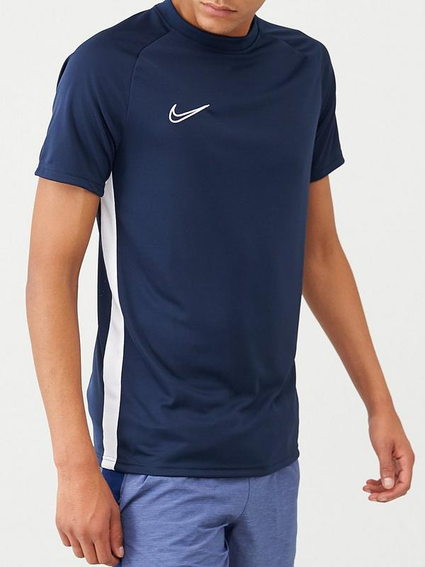 Permanente Buena voluntad sin  Nike Academy Dry T-Shirt - Navy | very.co.uk