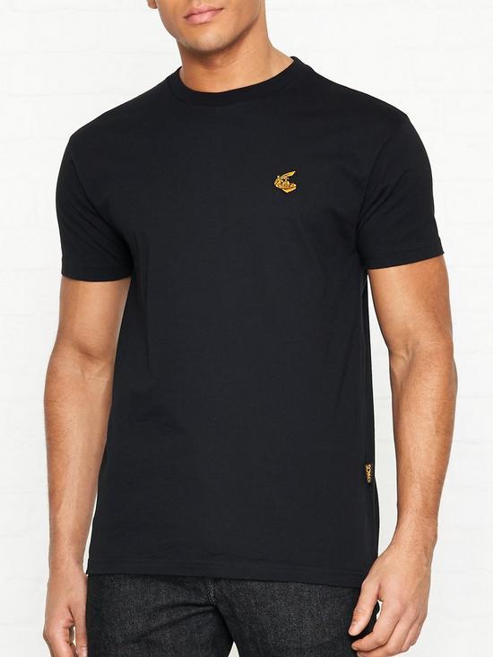 d387c7cc066a VIVIENNE WESTWOOD ANGLOMANIA Orb Badge T-shirt - Black