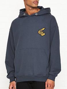 vivienne-westwood-anglomania-orb-logo-overhead-hoodie-grey