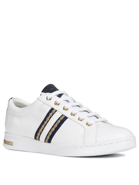 f215272716 Geox Geox D Jaysen Trainer - White/Blue | very.co.uk