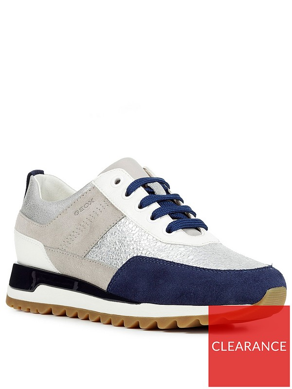 best place exclusive shoes lace up in Geox D Tabelya Suede Trainer - Multi