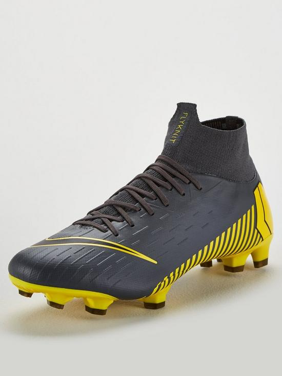 a89a1f77cc6 Nike Mercurial Superfly VI Pro Firm Ground Football Boots - Grey Yellow