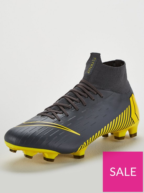 sale retailer 30e33 f7609 Nike Mercurial Superfly VI Pro Firm Ground Football Boots - Grey Yellow