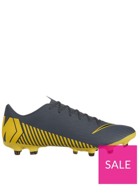 promo code 23962 e31e7 Nike Mercurial Vapor XII Academy Firm Ground Football Boots - Grey Yellow