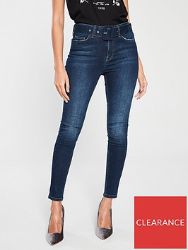 v-by-very-ella-high-waisted-buckle-belt-skinny-jean-dark-wash