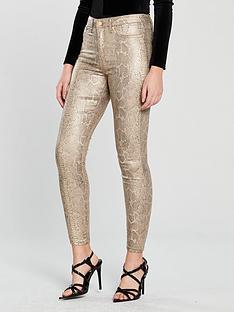v-by-very-gold-snake-print-skinny-jeans
